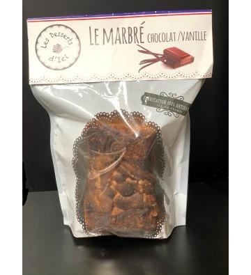 Cake Le Marbré Chocolat / Vanille - Les Desserts d'Içi