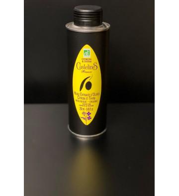 Huile d'olive Citron & Thym - Moulin Castelas