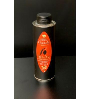 Huile d'olive Piment d'ESPELETTE - Moulin Castelas