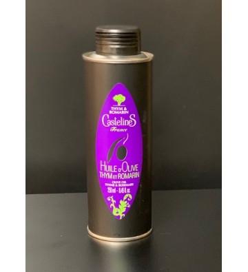 Huile d'olive Thym et Romarin - Moulin Castelas
